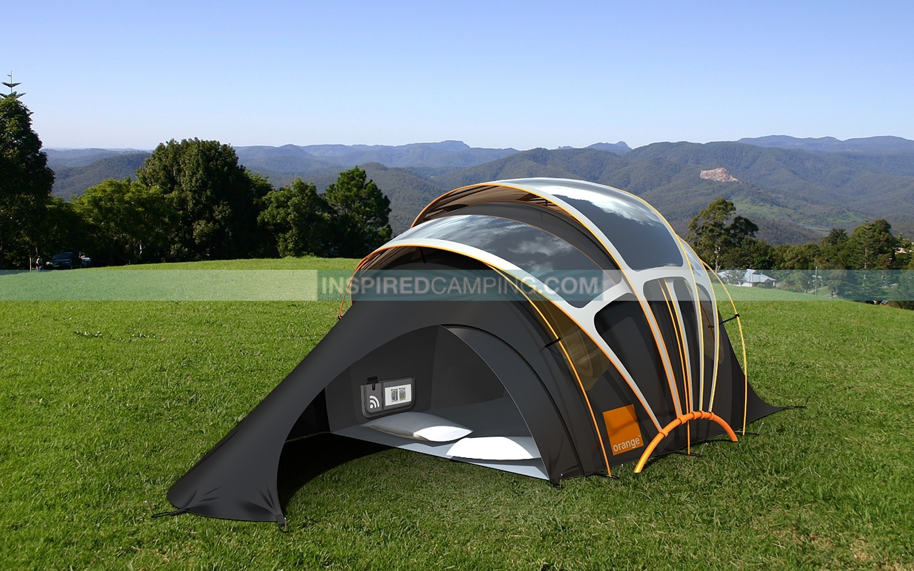 Solar Powered Tent - Cool Camping & Glamping Site