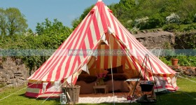 The ultimate glamping tent Strawberries & Cream Bell Tent