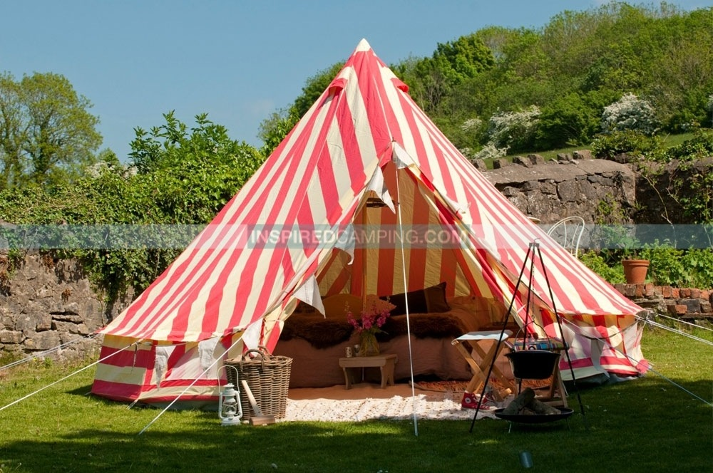 The ultimate gl&ing tent Strawberries u0026 Cream Bell Tent : bell tent usa - memphite.com