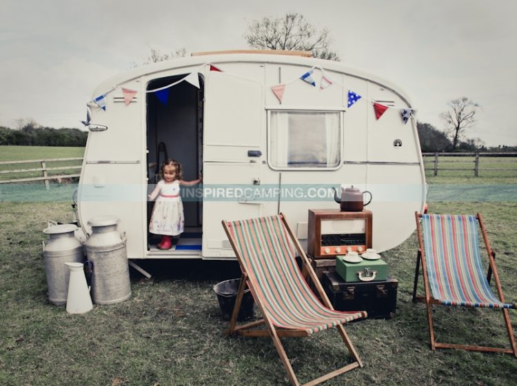 Glamping, vintage caravan style, Inspired Camping, Cool Camping Campsite