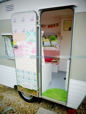 Deluxe camping in a caravan