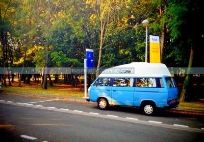 VW campervan camping campsite
