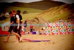 Windbreak beach camping glamping