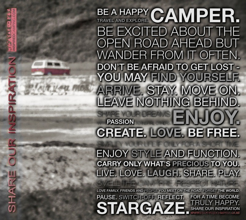 Inspired Camping Mantra