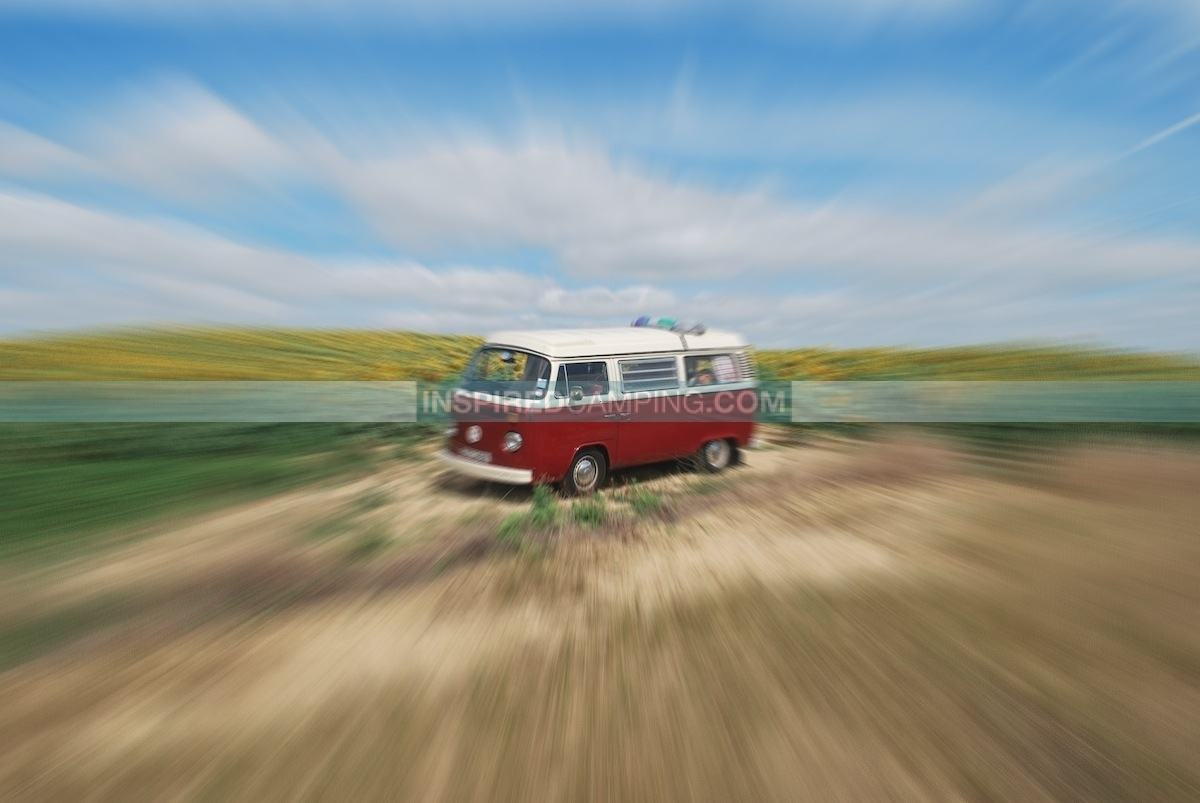 Blurred campervan