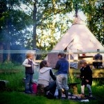 yurt bell tent cooking