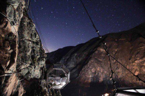 Glamping camping pods in Peru