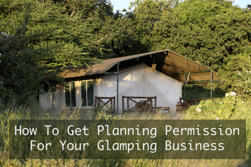 how to get planning permission for a glamping business